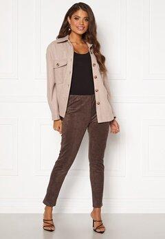 DRY LAKE Sansa Trousers 207 Brown Faux Suede Bubbleroom.fi