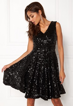 DRY LAKE Serena Dress Black Sequin Bubbleroom.fi
