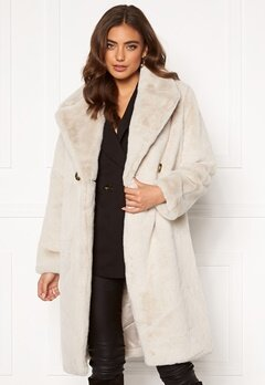 DRY LAKE Smoothie Long Jacket 125 Offwhite Faux F Bubbleroom.fi