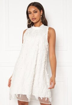 DRY LAKE Swag Dress White 3D Flowers Bubbleroom.fi