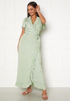DRY LAKE Takita Ankle Dress 329 Mint Green Satin Bubbleroom.fi