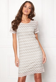 DRY LAKE Valentine Dress 994 Beige Zigzag Bubbleroom.fi
