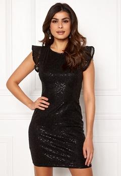 ONLY Duna Frill Short Dress Black Bubbleroom.fi
