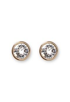 Dyrberg/Kern Noble Crystal Earrings Gold Bubbleroom.fi