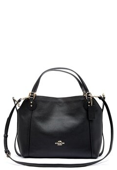 COACH Edie Leather Bag LIBLK Black Bubbleroom.fi