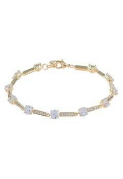 SNÖ of Sweden Elaine Bracelet Gold/Clear Bubbleroom.fi