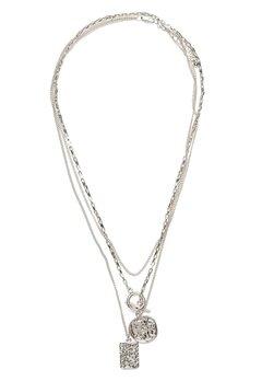Pieces Elda Combi Necklace Silver Bubbleroom.fi
