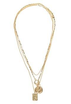 Pieces Elda Combi Necklace Gold Bubbleroom.fi