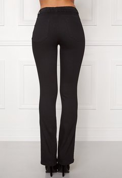 Happy Holly Elwira bootcut jeggings Black denim Bubbleroom.fi