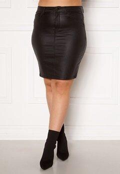 Only Carmakoma Emilia Rock Coated Skirt Black Bubbleroom.fi