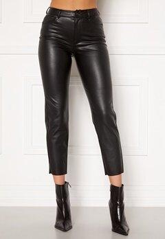 ONLY Emily HW Faux Leather Black Bubbleroom.fi