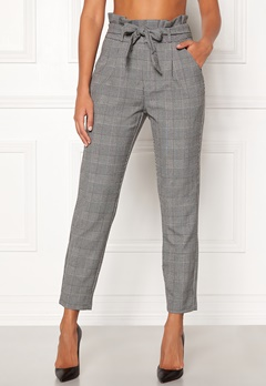 VERO MODA Eva HR Loose Paperbag Grey Checks: white Bubbleroom.fi