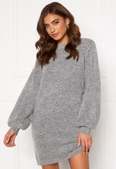 OBJECT Eve Nonsia Knit Dress Light Grey Melange Bubbleroom.fi