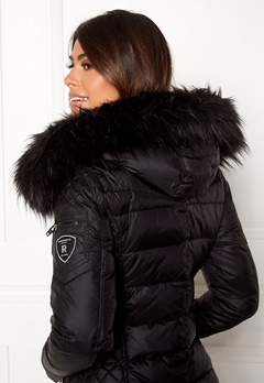 ROCKANDBLUE Faux Fur Trim Black Bubbleroom.fi
