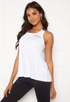 FILA Aim Loose Fit Tank M67 Bright White Bubbleroom.fi