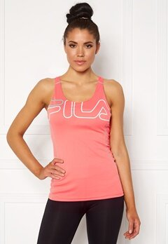 FILA Aisha Racer With Bra Shell Pink/White Bubbleroom.fi