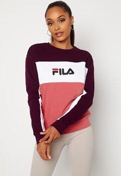 FILA Amina Blocked Crew Sweat B449 Rose,WB, BW Bubbleroom.fi