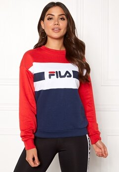 FILA Angela Crew Sweat Bright White Bubbleroom.fi