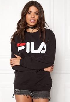 FILA Basic Classic Logo Sweat Black Bubbleroom.fi