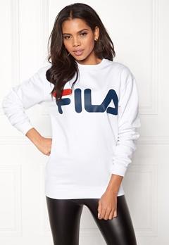 FILA Basic Classic Logo Sweat Bright White Bubbleroom.fi
