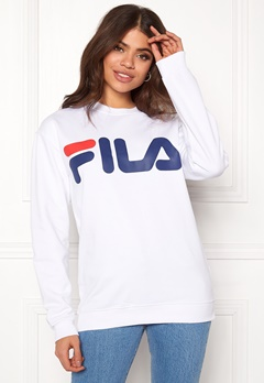 FILA Basic Classic Logo Sweat Bright White Bubbleroom.fi