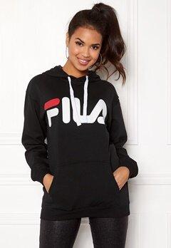 FILA Classic Logo Hood Kangaro Black Bubbleroom.fi
