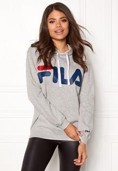 FILA Classic Logo Hood Kangaro Light Grey Melange Bubbleroom.fi