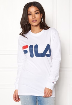 FILA Classic Logo Long Sleeve Bright White Bubbleroom.fi