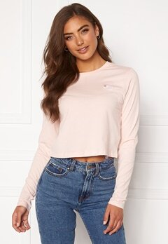 FILA Eaven Cropped LS Shirt A643 English Rose Bubbleroom.fi