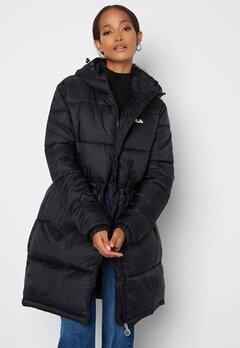 FILA Embla Long Puffer Jacket Black bubbleroom.fi