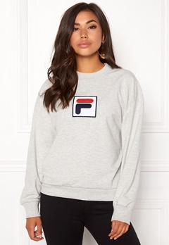 FILA Erika Crew Sweat Light Grey Melange Bubbleroom.fi