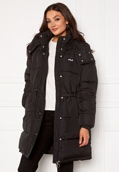 FILA Tender Long Puffer Jacket 002 black Bubbleroom.fi