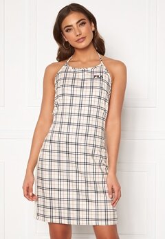 FILA Tess Halter Neck Dress A434 eggnog tartan a Bubbleroom.fi