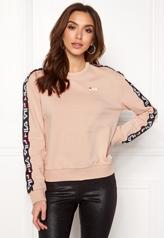 FILA Tivka Crew Sweat Cameo Rose Bubbleroom.fi
