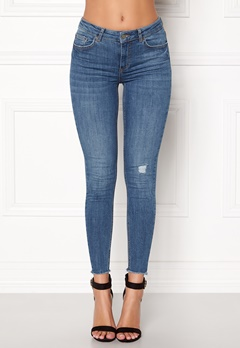 Pieces Five Delly B185 MW Jeans Medium Blue Denim Bubbleroom.fi