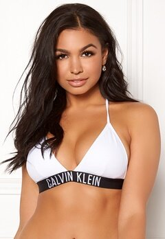 Calvin Klein Fixed Triangle Bikini Top 100 White Bubbleroom.fi