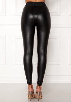 ONLY Flirt PU Leggings Ankel Black Bubbleroom.fi