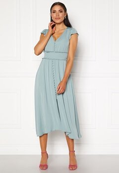 FOREVER NEW Amayah Button Front Midi Dress Jade Stone Bubbleroom.fi