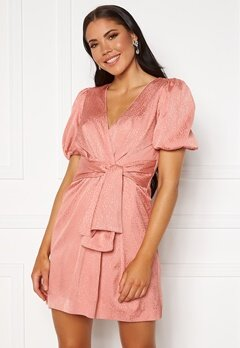 FOREVER NEW Ellie Jacquard Mini Dress Pastel Salmon Bubbleroom.fi