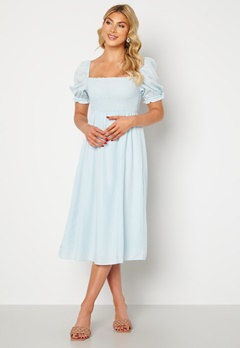 FOREVER NEW Puff Sleeve Dress Eggshell Blue Bubbleroom.fi