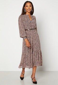 FOREVER NEW Tammy Tiered Midi Dress Caramel Leopard Bubbleroom.fi