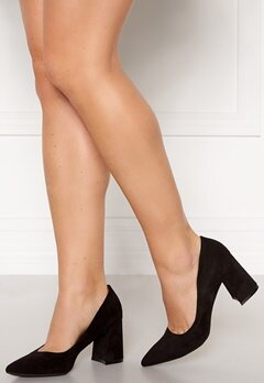 Francesco Milano Block Heel Pump Nero Bubbleroom.fi