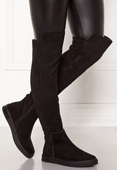 Francesco Milano Overknee Low Boots Nero Bubbleroom.fi