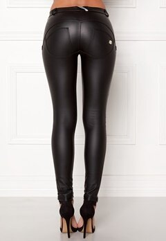FREDDY WR.UP Shaping LW Legging Black Eco Leather Bubbleroom.fi