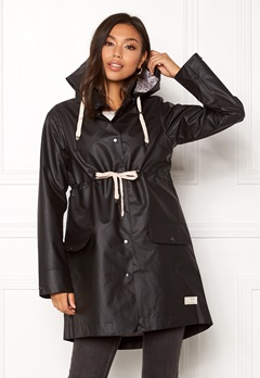 Odd Molly Free Range Rainjacket Almost Black Bubbleroom.fi