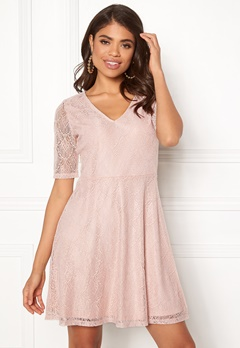 VILA Frej 2/4 Short Dress Peach Blush Bubbleroom.fi