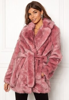 SELECTED FEMME Fury Faux Fur Earth Red Bubbleroom.fi