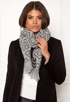GANT G Wool Scarf 94 Light Grey Melang Bubbleroom.fi