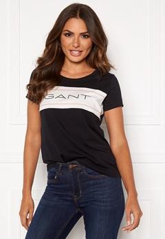 GANT Gant Archive SS T-Shirt 5 Black Bubbleroom.fi