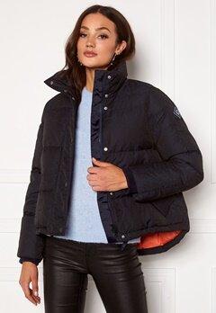 GANT Jacquard Gant Word Down Jacket 433 Evening Blue bubbleroom.fi